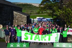 Greene King employees take on Yorkshire 3 Peaks for Macmillan