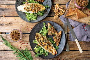 , Mushroom Paté With Chicory & Curly Endive Salad