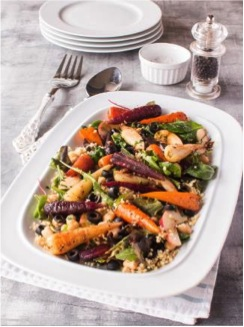 , Chantenay Carrot, Bulgar Wheat and Chickpea Spicy Salad