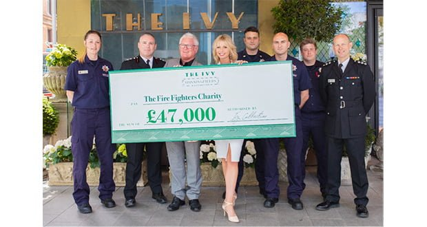 , The Ivy Spinningfields Donates Proceeds From The Ivy Circus To Fire Fighters Charity