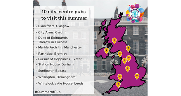 , CAMRA Unveils 10 City-Centre Pubs To Cool Off In