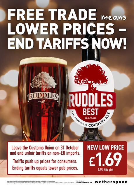 , Wetherspoon Cuts The Price Of A Pint In Its Pubs