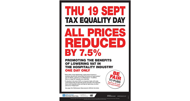 , Wetherspoon Pubs To Reduce Prices On Tax Equality Day