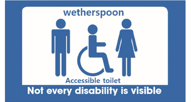 , Wetherspoons Joins Accessible Toilet Campaign