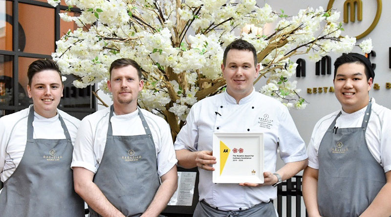 Hotel Restaurant Awards, Mamucium Starts the New Year with a Prestigious Award Win the Double AA Rosette Award