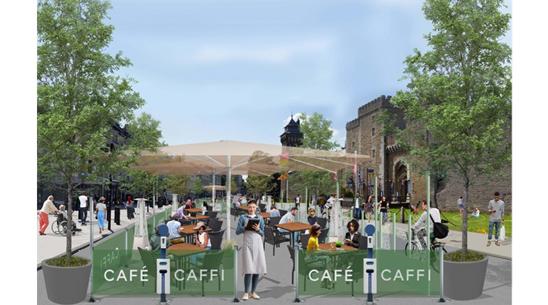 , Cardiff Council Launches Outdoor Food Court In Support Of Local Eateries