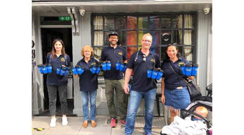 , 92 Volunteers Unite With Only A Pavement Away To Fill Water Flasks For Vulnerable Communities