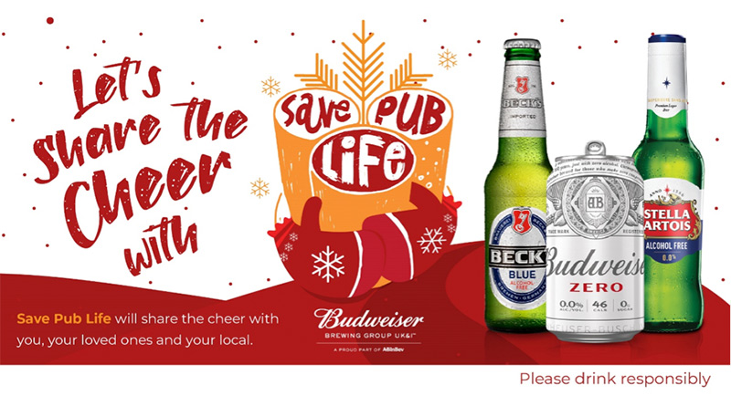Budweiser Brewing Group UK&I Launches Save Pub Life 2.0 To Support The On-Trade During Second Lockdown, Budweiser Brewing Group UK&I Launches Save Pub Life 2.0 To Support The On-Trade During Second Lockdown