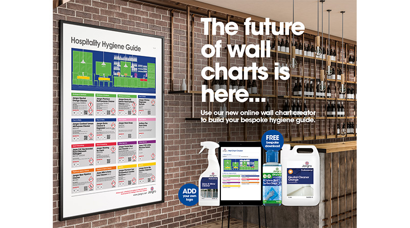 Jangro Launches Digital Cleaning Wall Charts, Jangro Launches Digital Cleaning Wall Charts