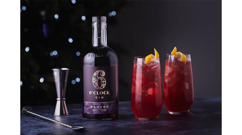 Damson and cranberry collins – by 6 O'clock Gin, Damson and cranberry collins – by 6 O'clock Gin