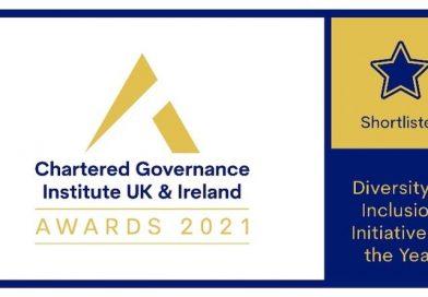 The Institute of Hospitality Shortlisted for 2021 UK & Ireland Chartered Governance Institute Awards